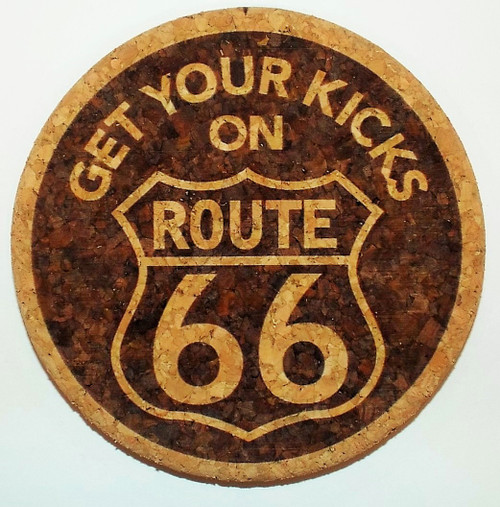 Get Your Kicks on Route 66 Cork Coaster