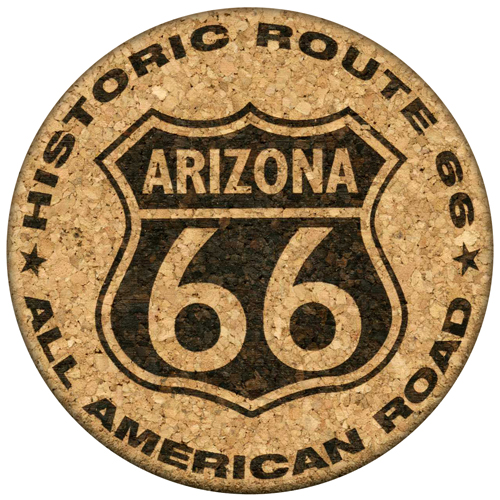 Arizona Route 66 Cork Coaster