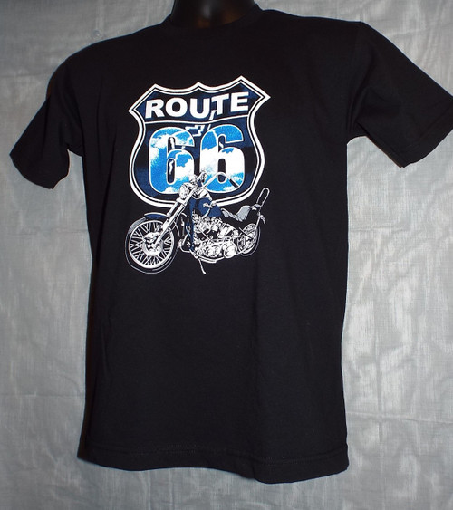 Route 66 Motorcycle Lightning Tee (Adult)