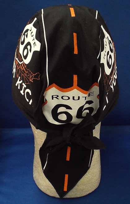 back of Route 66 Road Skull Cap