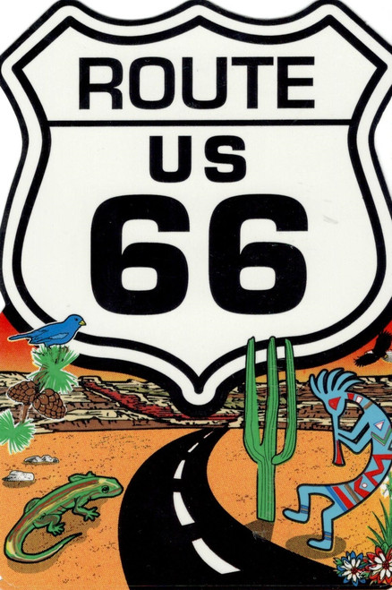 Route 66 Desert Sticker