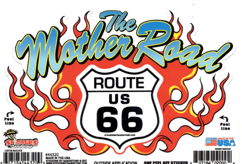 Mother Road Flames Sticker