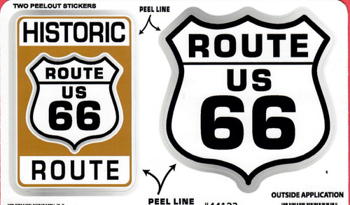 Historic Route 66 Sticker Set