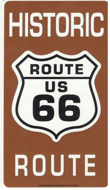 Brown Historic Route 66 Sticker