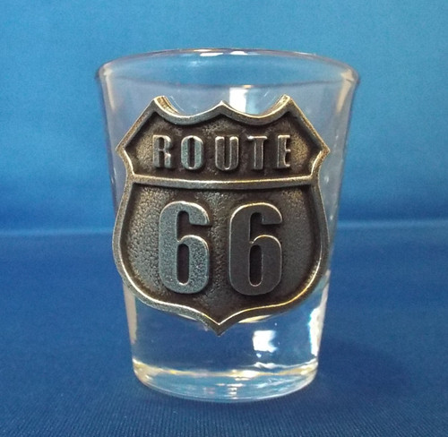 Route 66 Pewter Shot Glass