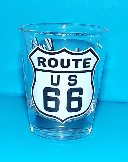 Classic Route 66 Shot Glass Front