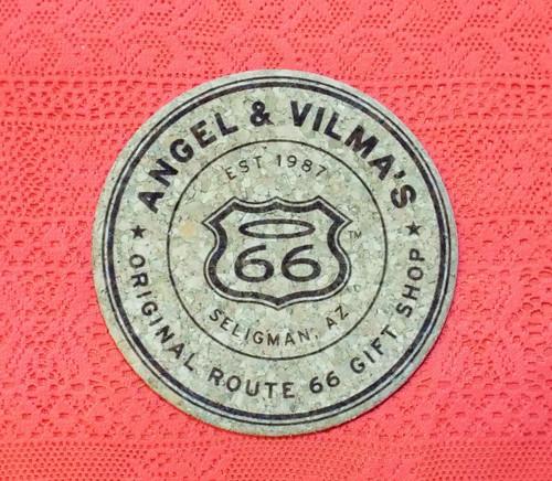 top of Angel & Vilma's Gift Shop Coaster