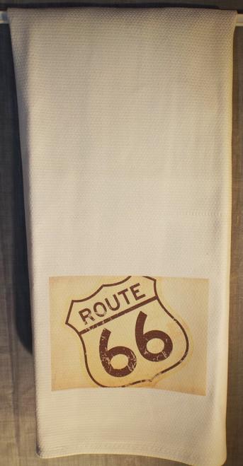 Route 66 kitchen towel
