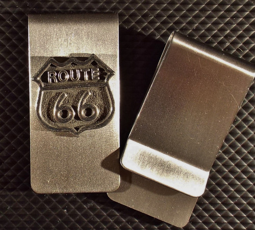 Route 66 Money Clip Made in the USA