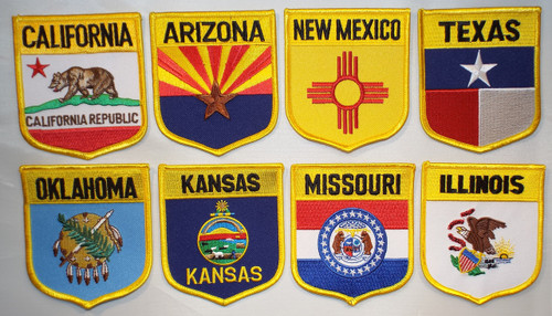 The State Flag Patch Set of Route 66