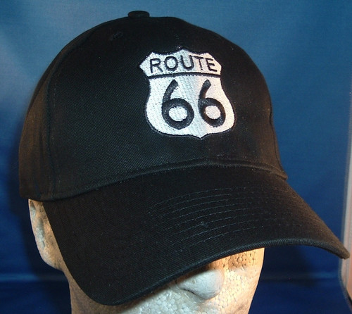 BLACK Route 66 Shield Cap
