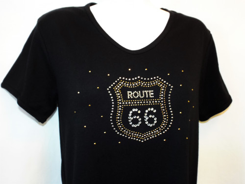 Classic Bling Route 66 Shield Shirt