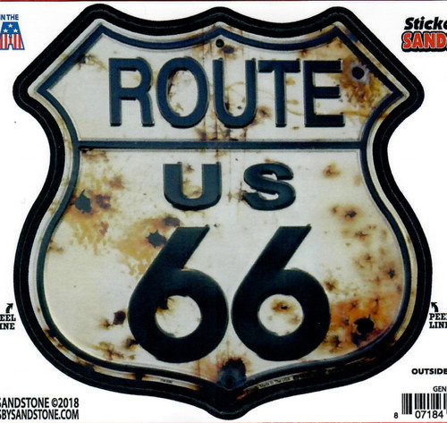 Bullet Route 66 Shield Sticker