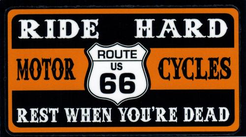 Ride Hard Route 66 Sticker