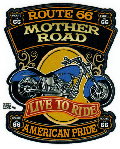 Live to Ride American Pride Sticker