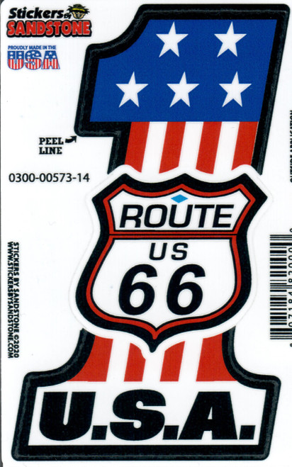 No. 1 USA Rt. 66 Sticker