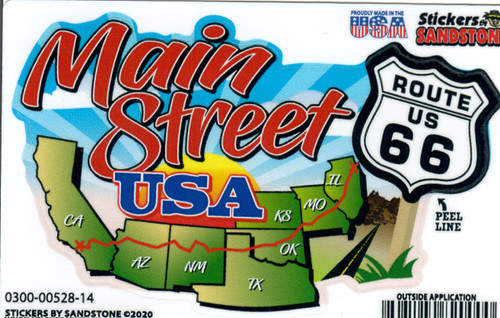New Main Street Map Sticker