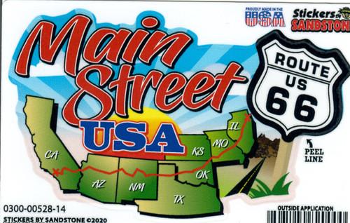 New Main Street Map Sticker