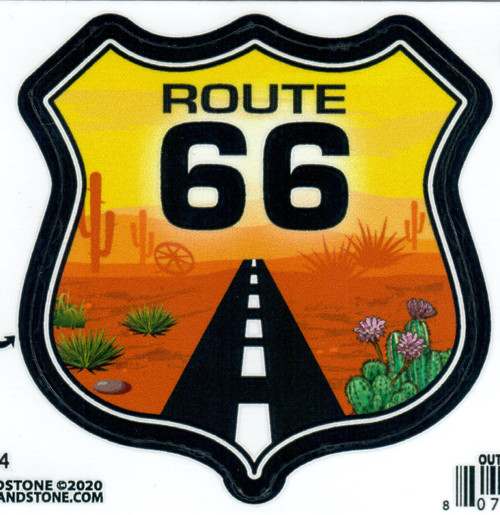 Desert Sunset Route 66 Sticker