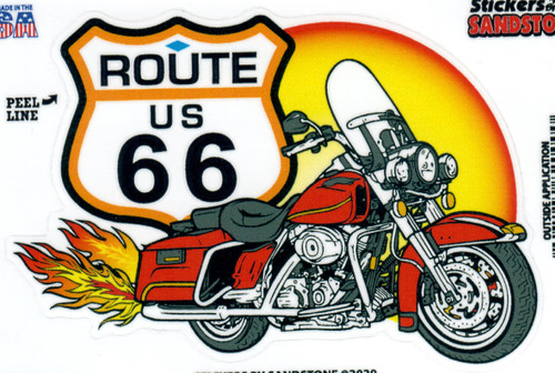Route 66 Motorcycle Sticker