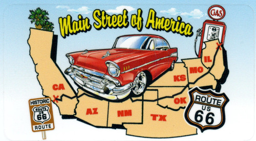 Driving Main Street of America Sticker