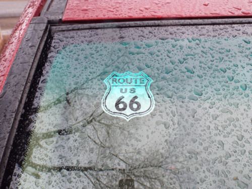 Route 66 Static Cling Decal