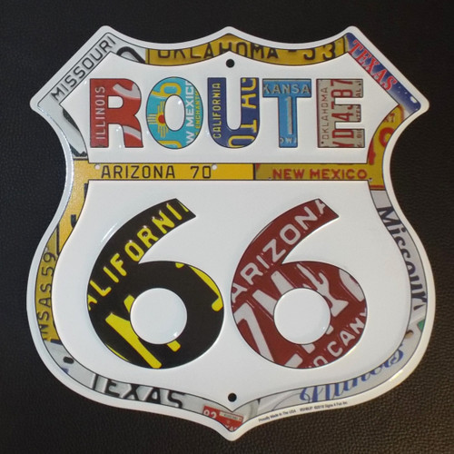 License Plate Border Route 66 Shield
