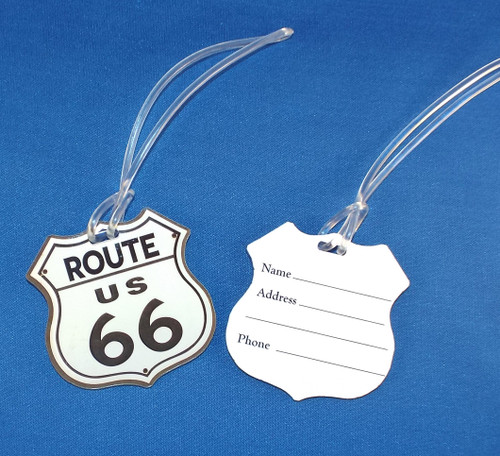 Route 66 Luggage Tag - Front and Back