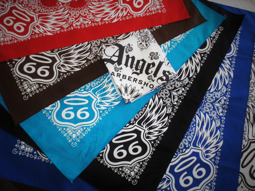 Angel's Barber Shop Route 66 Bandanas