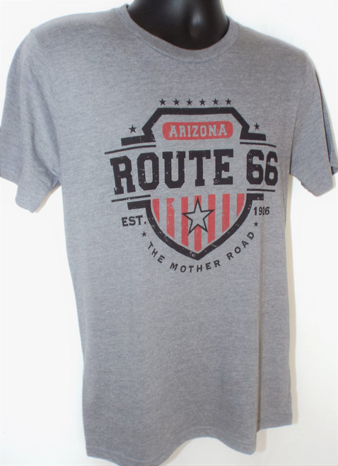 Americana Shield T-shirt: Route 66 Arizona
