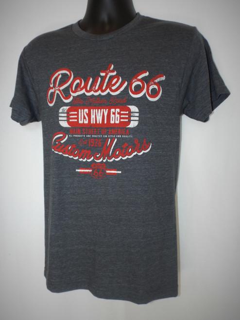US Hwy 66 Custom Motors T-shirt