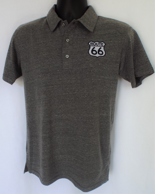 Jersey Knit Route 66 Polo Shirt