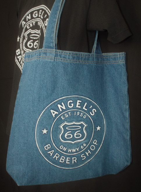 Denim Angel's Barber Shop Tote Bag