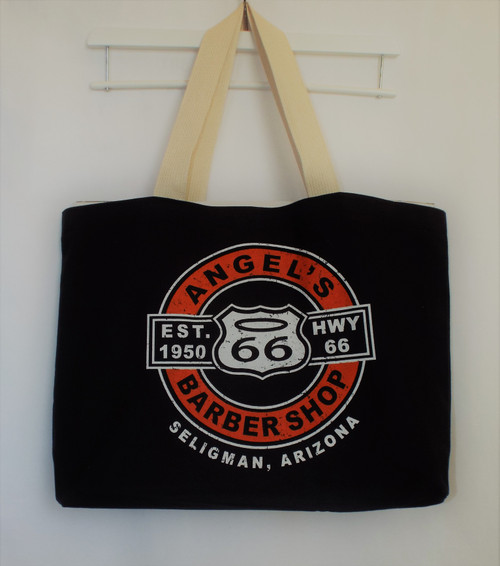 Angel's Barber Shop Large Tote Bag