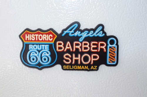Angel's Barber Shop Neon Magnet
