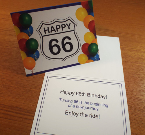 Happy 66 Birthday Card