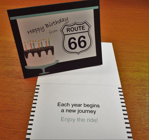 Happy Birthday from Route 66  Card