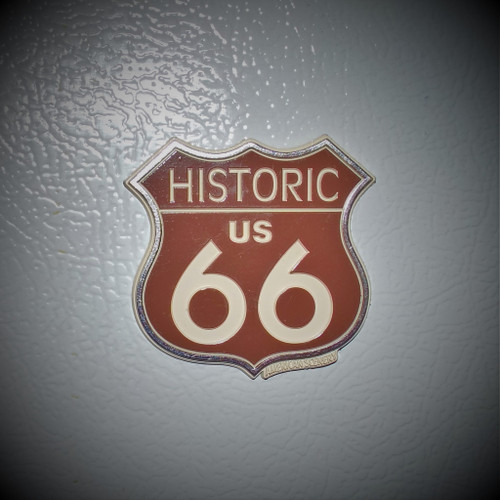 Historic US 66 rubber magnet
