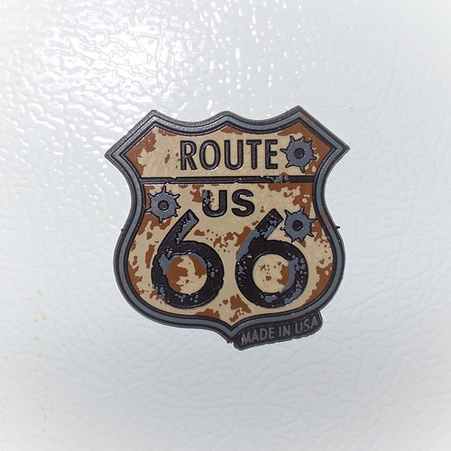 Route US 66 Rubber Bullet Magnet