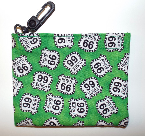 Mini Velcro Keeper Purse Green