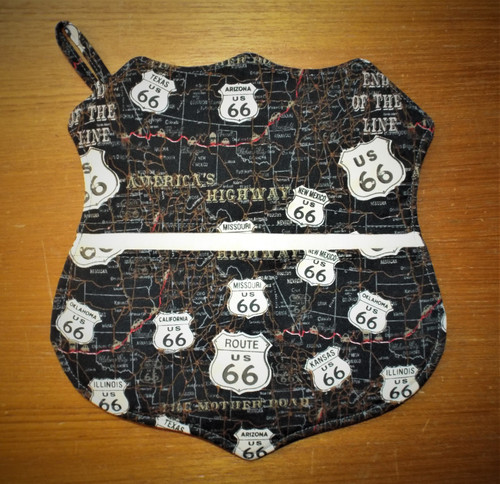Handmade Route 66 Shield Shaped Hot Pad