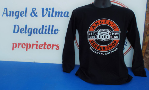 Angel's Barber Shop Biker Style Long Sleeve