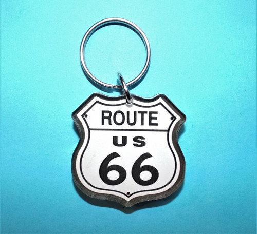 acrylic route 66 key chain Made in the U.S.A.