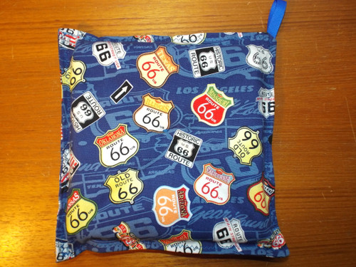 Blue Map Route 66 Hot Pad