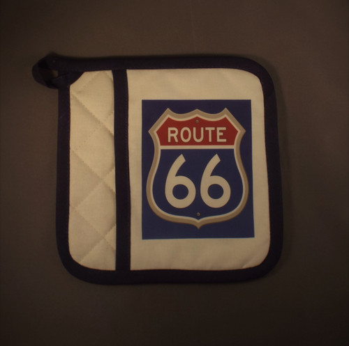 Red White & Blue Route 66 Hot Pad