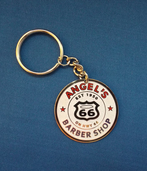 Angel's Barber Shop Key Chain