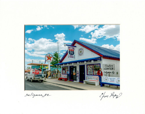 Matted Photo by Efren Lopez - Route 66 Gift Shop