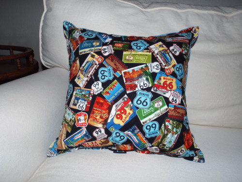 Route 66 Vacation Throw Pillow
