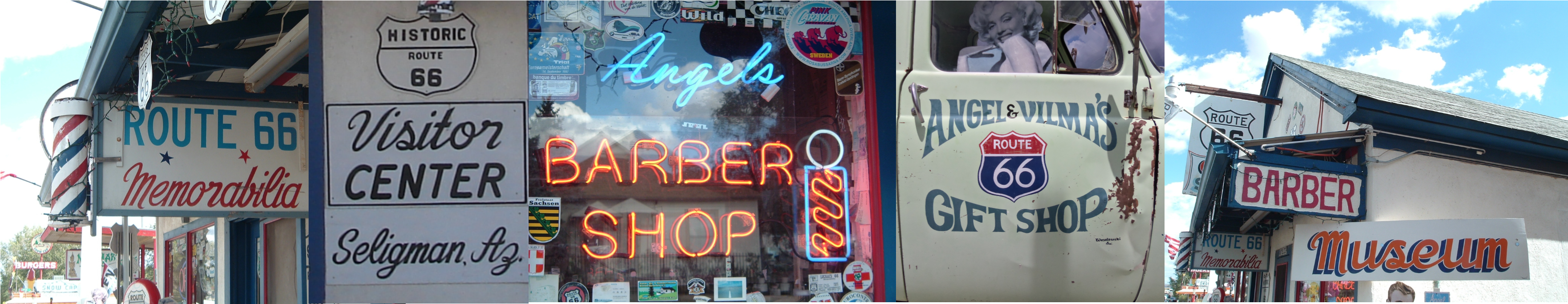 The Delgadillo Original Route 66 Gift Shop is many things here in Seligman Arizona including a Route 66 Memorabilia Shop, a Route 66 Visitor's Center, a barber shop, and museum