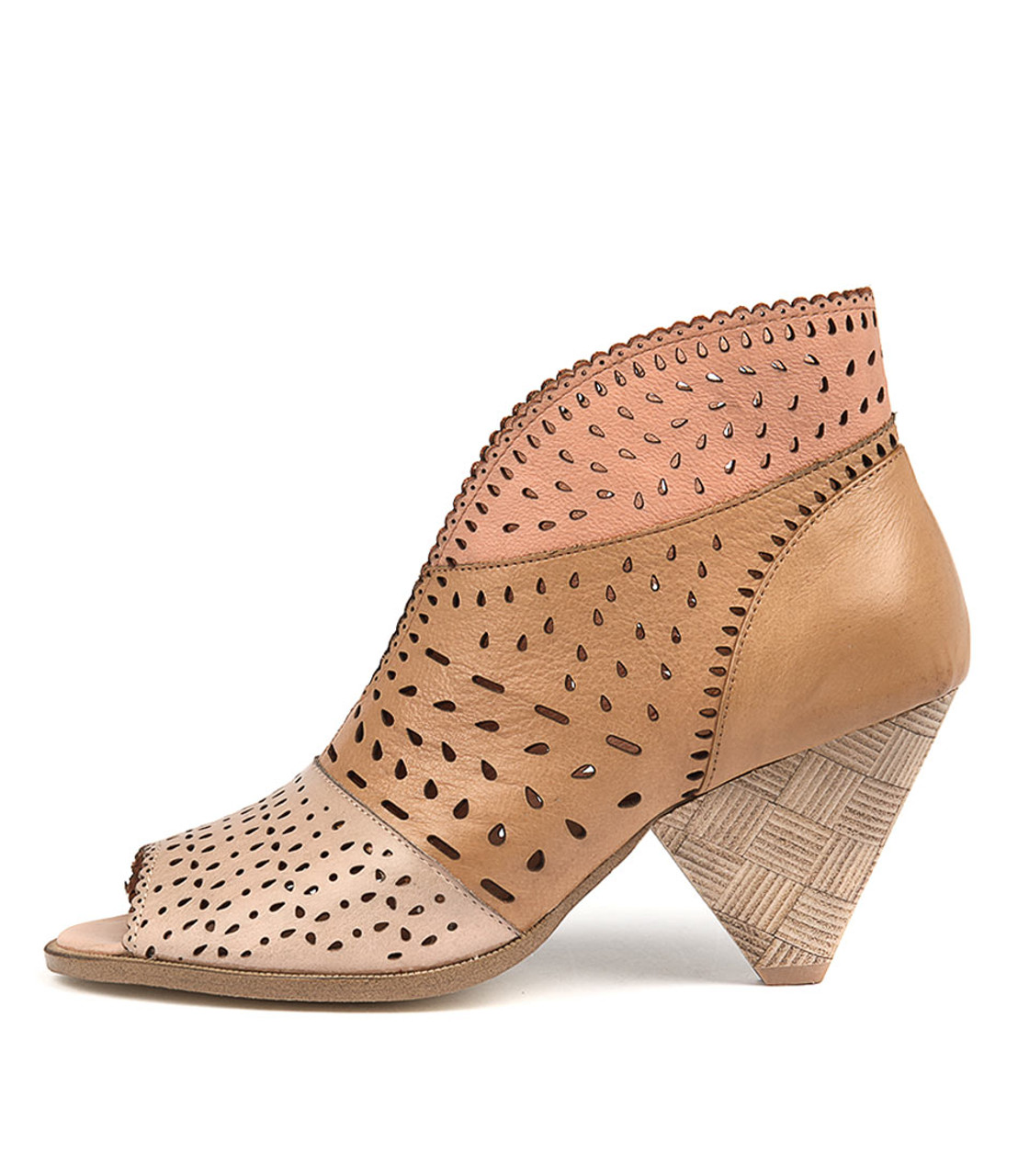 d651f1a98cd OSHI Heeled Sandals in Nude/ Tan/ Blush Leather - Django and Juliette